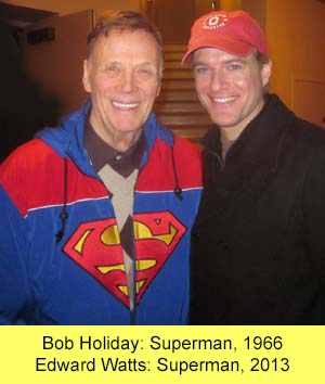 Two Supermen: Bob Holiday and Edward Watts
